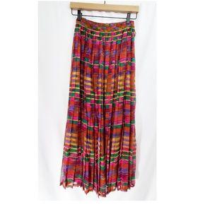 NWT Ellen Tracy Linda Allard Silk Pleat Maxi Skirt